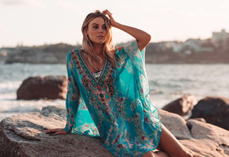 Make It Happen Cold-Shoulder Long Kaftan