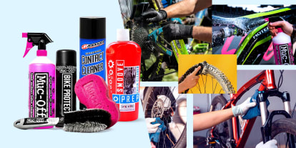 Browse bicycle cleaning products to keep your bike shining for longer - Maxima, Muc-Off, Smoove and more!