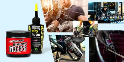 Browse wet and dry bike lubricants from Maxima, Muc-Off and more