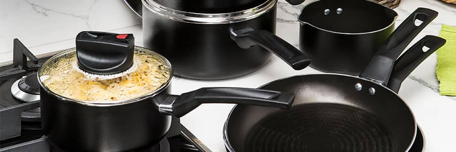 Non stick saucepan set from Prestige. Explore the range, including non stick and stainless steel options to suit every kitchen