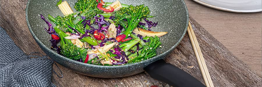 Non stick wok & induction wok and stir fry pans available from Prestige