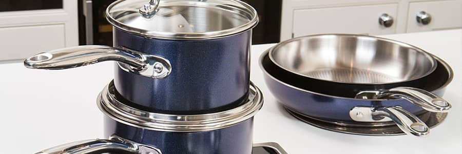 Looking for the best stainless steel cookware? Look no further than the 10 year stainless steel range in metallic blue from Prestige. Our stainless steel pans come with a 10 year guarantee, so you can be confident of their quality.