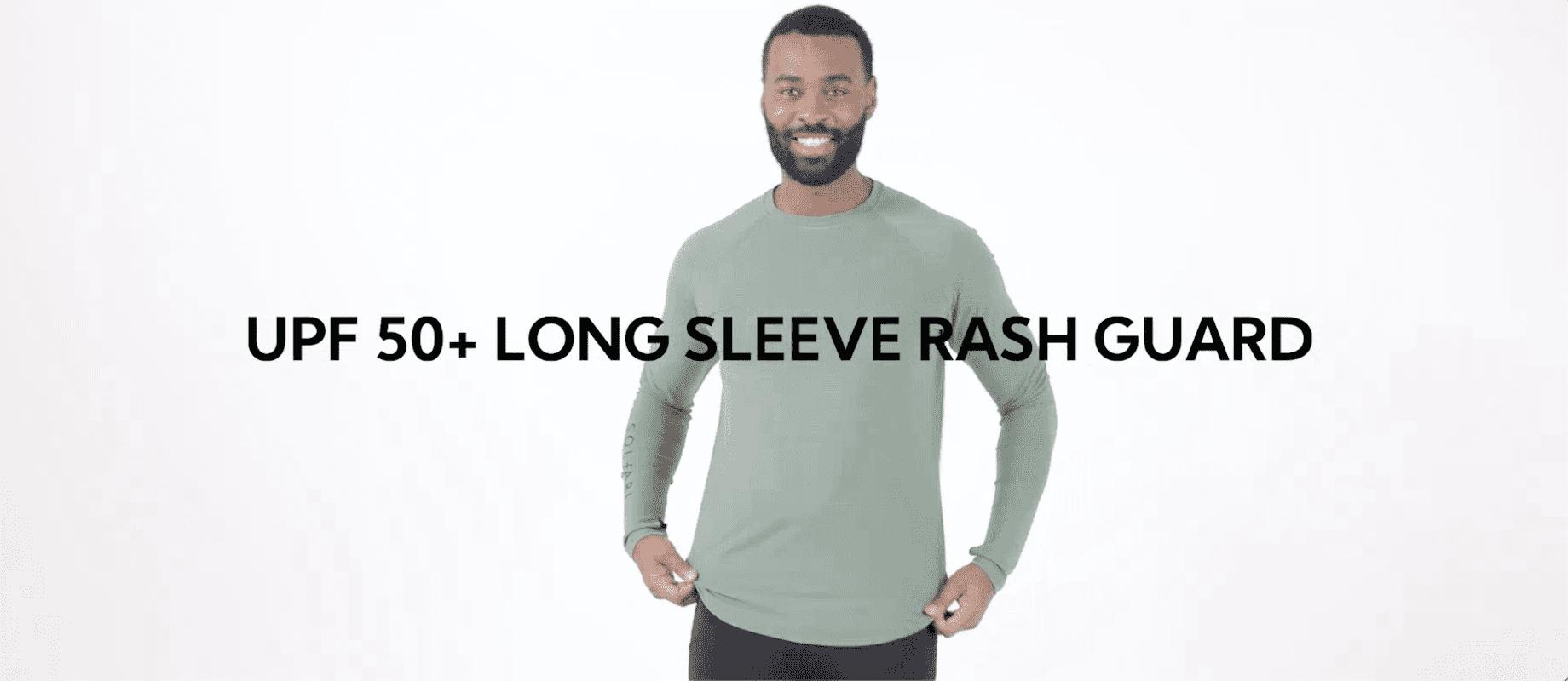 Stylish Sun Protective Long Sleeve Rash Guard UPF50+ | Men's Swimwear