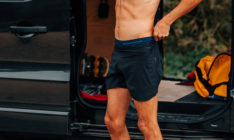 Runderwear Men's Running Boxer Shorts - Navy