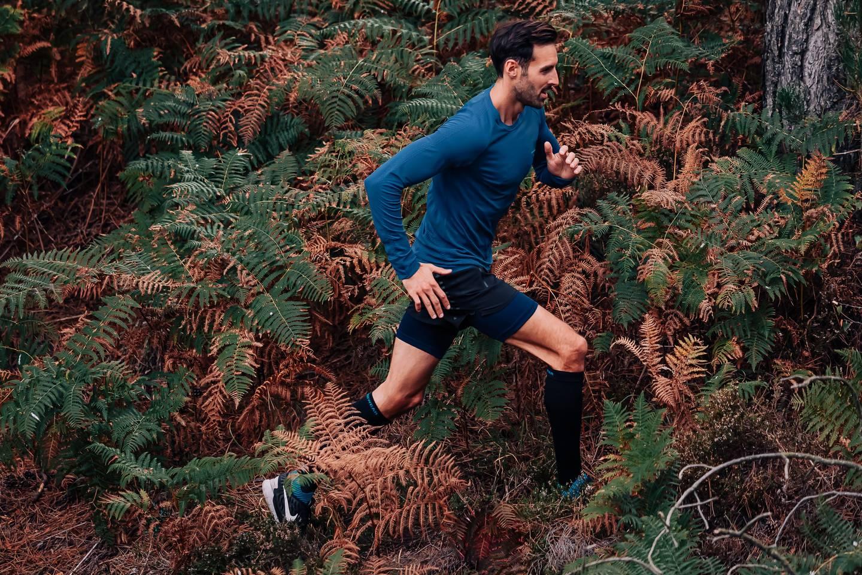 Runderwear Men's Long Running Boxers - Blue