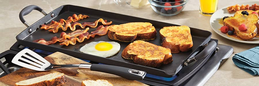 Advanced hard anodized range from Anolon UK includes a beautiful selection of non-stick bakeware, perfect for baking and roasting your favourite meals and desserts.
