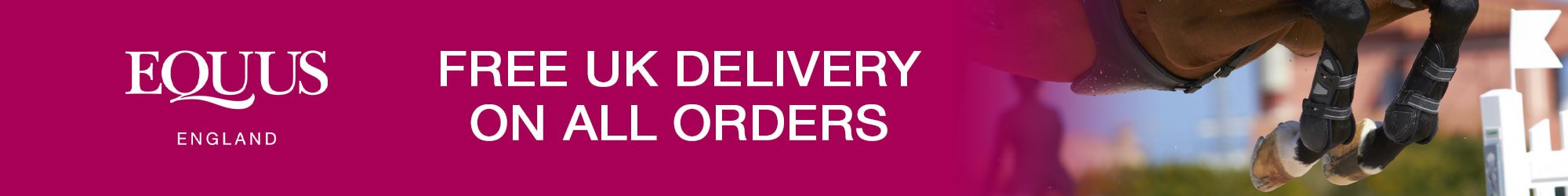 FREE Delivery on All Orders at EQUUS