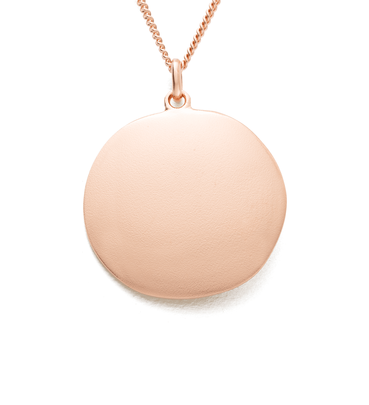 BY THE SEA COIN NECKLACE (18K ROSE GOLD VERMEIL)