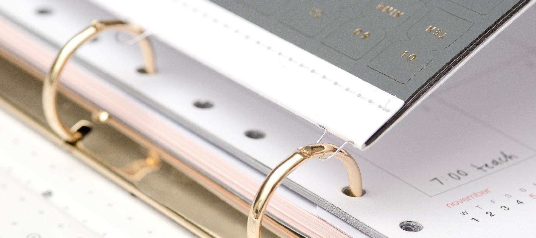 Mini 3 Ring Binder Inserts + Accessories - russell+hazel