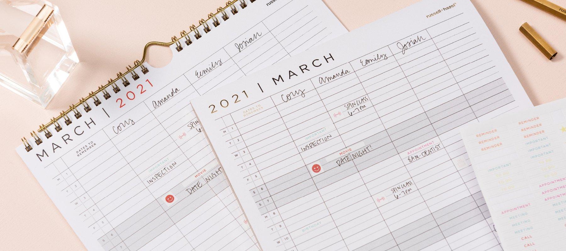 Family Calendars - russell+hazel