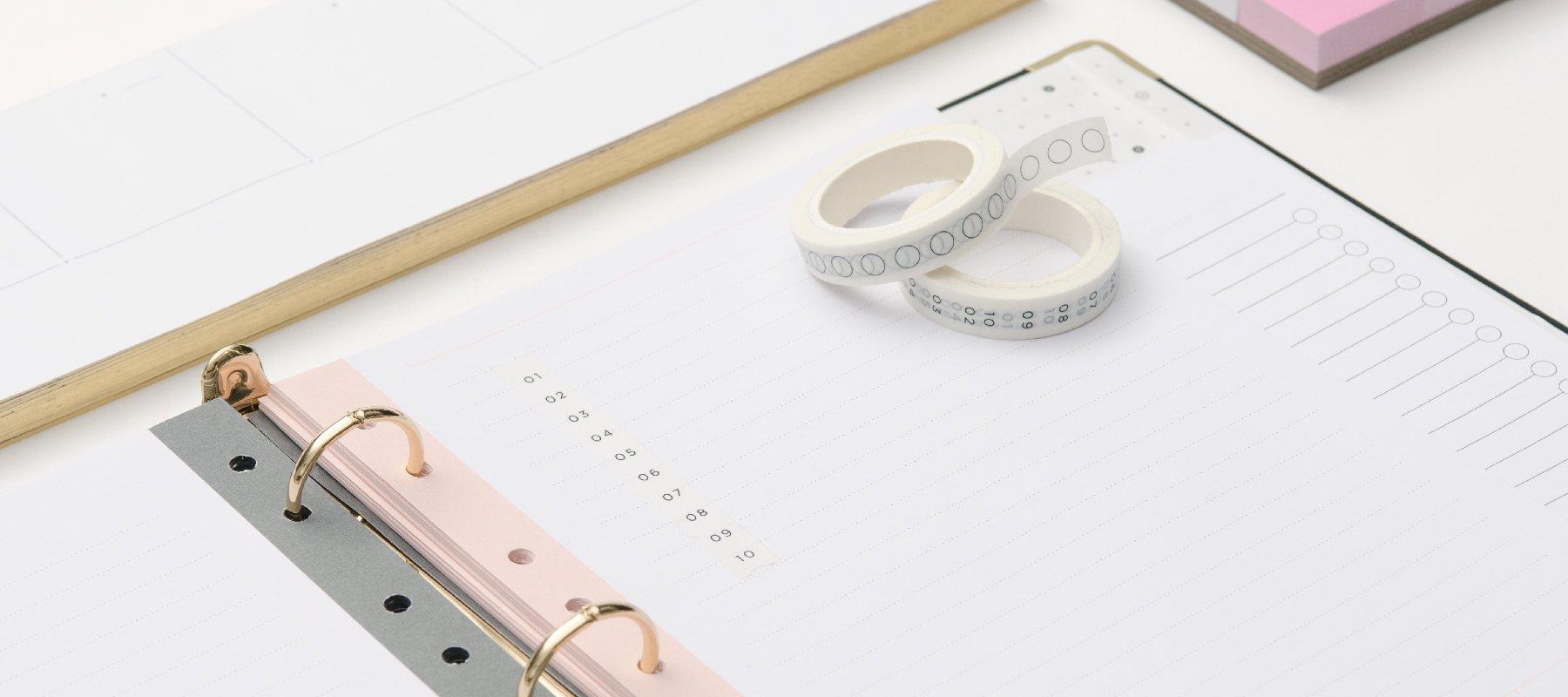 Signature 3 Ring Binders + Inserts  russell+hazel