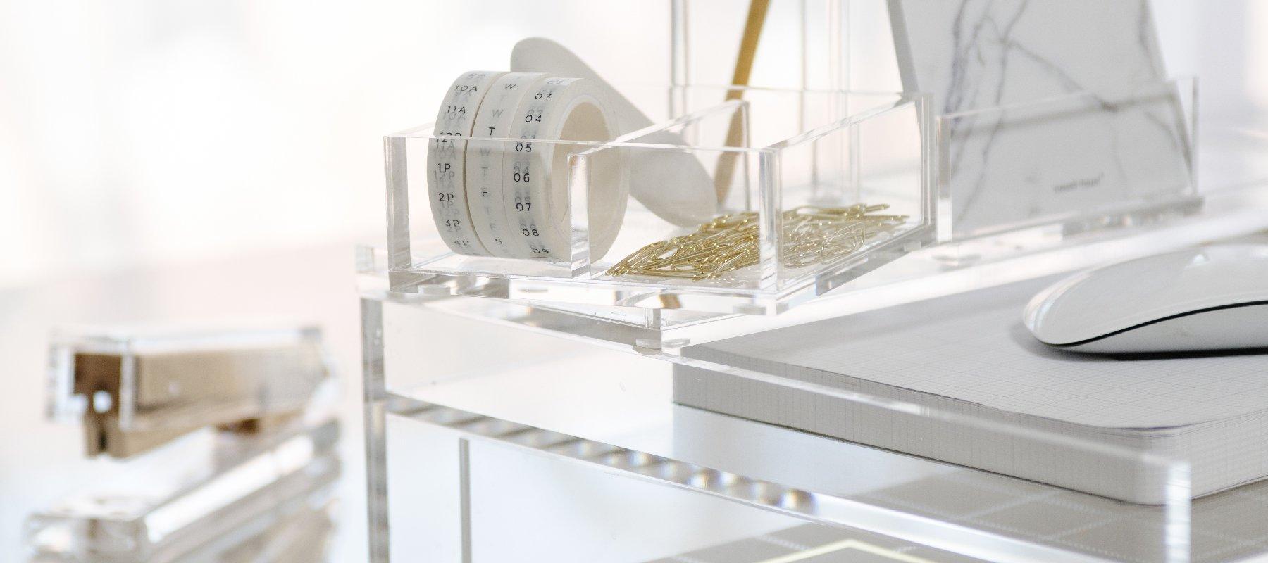 Acrylic Organization + Essentials  russell+hazel