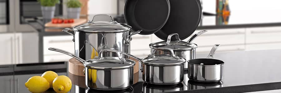 Stainless steel cookware from Circulon UK.  Shop stainless steel pans and pots today, all with our lifetime guarantee.