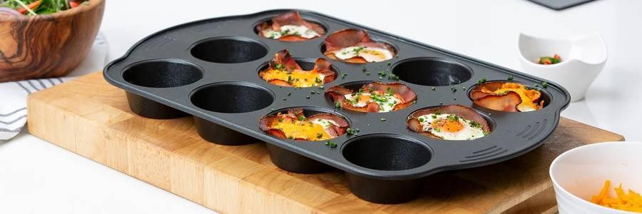 Prestige carbon steel bakeware & ovenware. Non stick, dishwasher safe.