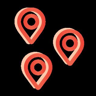 various location indicators