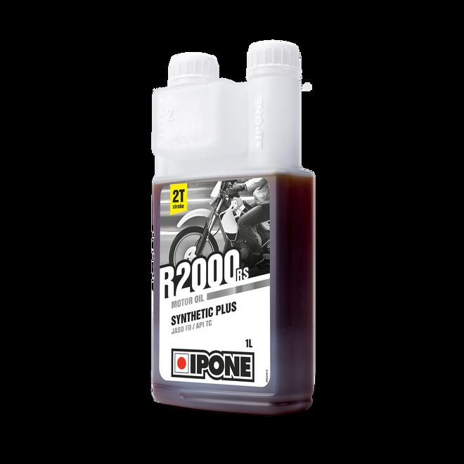 Bidon doseur 1L R2000 RS huile moteur pour motos 2 temps ipone