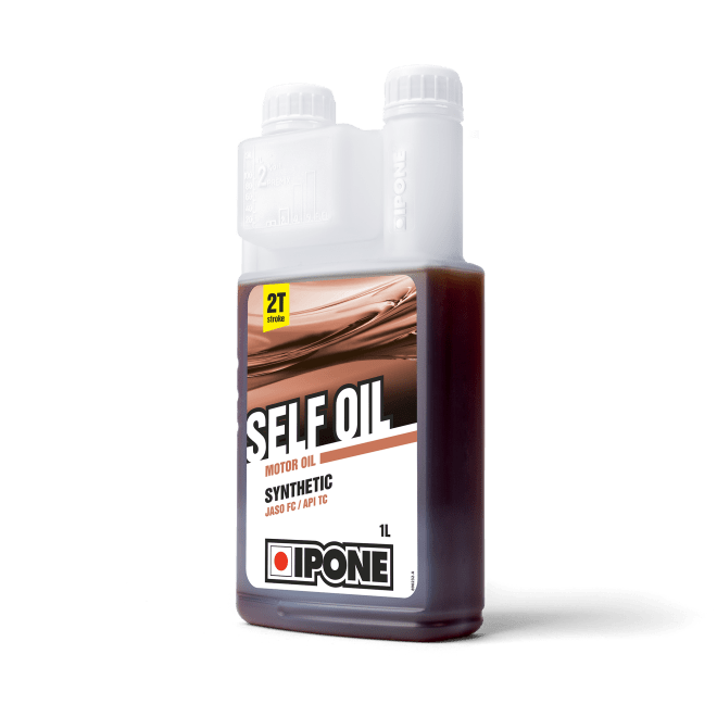 Bidon doseur 1L Self Oil huile moteur pour engins 2 temps ipone