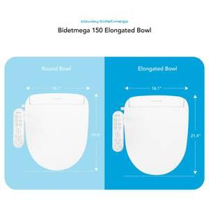 Coway Bidetmega 150 Elongated Bowl Measures Diagram