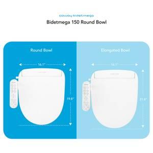 Coway Bidetmega 150 Round Bowl Measures Diagram