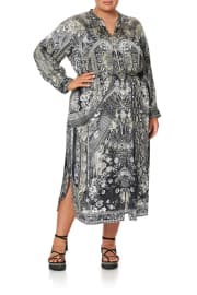 MID LENGTH SHIRT DRESS ONE TRIBE