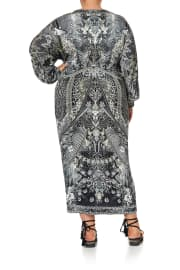 LONG SPLIT FRONT TWIST DRESS ONE TRIBE