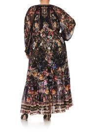 LONG GATHERED PANEL DRESS BLUSHING MANOR