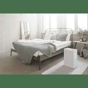 Coway Airmega 150 Dove White on bedroom floor