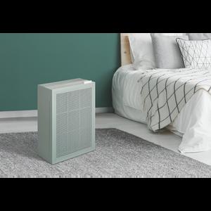 Coway Airmega 150 Sage Green on Bedroom Floor