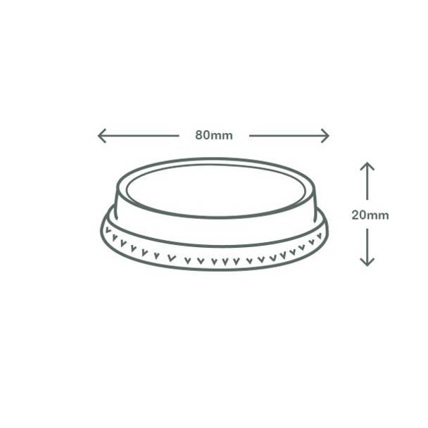 Flat PLA lid - no hole - 76 series