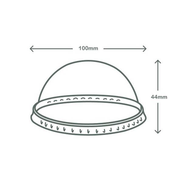 Dome PLA lid - no hole - 96 series