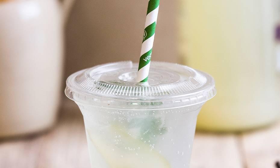 Flat PLA lid - C shape straw flap - 96 series