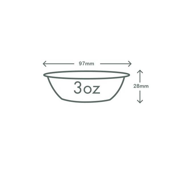 3oz (90ml) PLA insert - 96 series