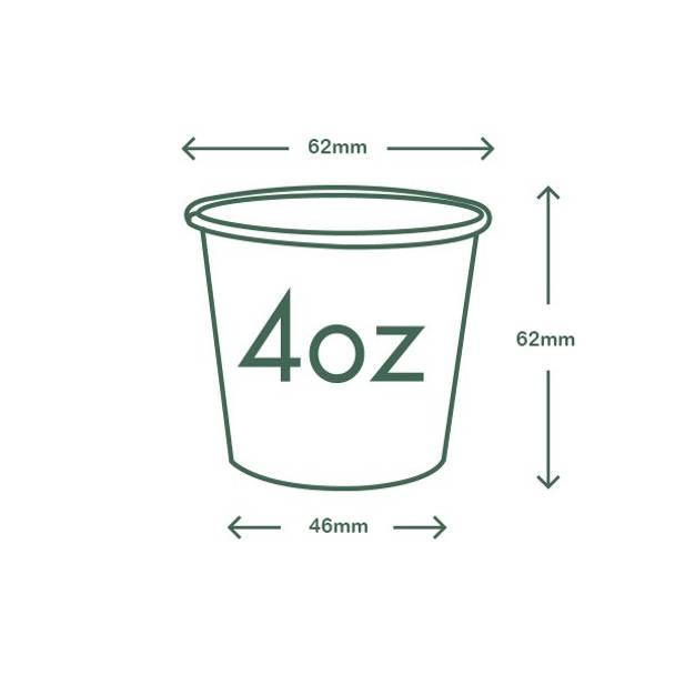 4oz (120ml) Kraft Single Wall coffee cup - 62 series