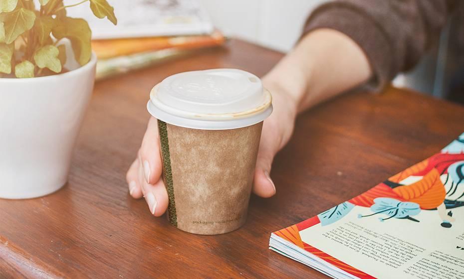 8oz (250ml) Kraft Single Wall coffee cup - 79 series