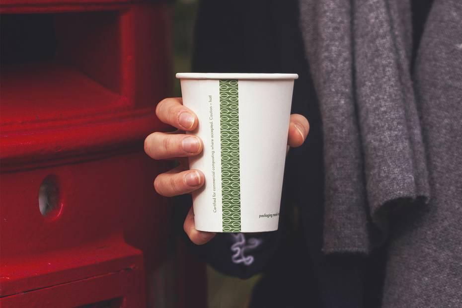 10oz (300ml) White Single Wall coffee cup - 89 series