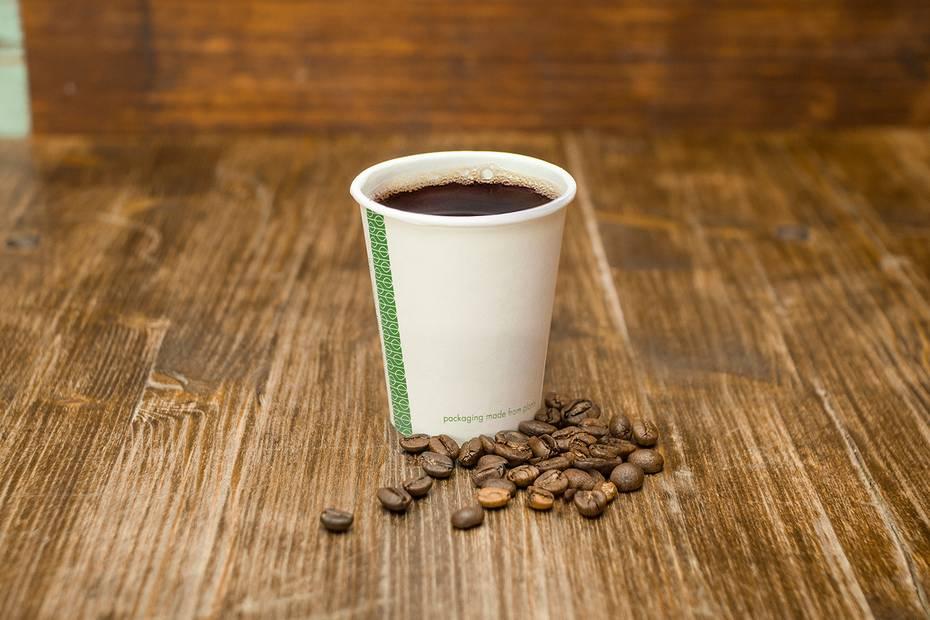 6oz (180ml) White Single Wall coffee cup - 72 series