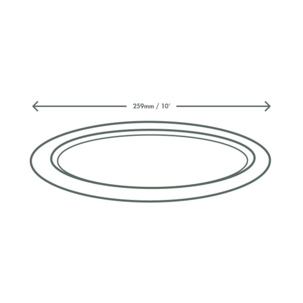 10 inch Oval Bagasse Plate - White