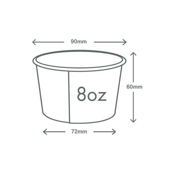 8oz (250ml) Paper Bowl - Kraft - 90 Series