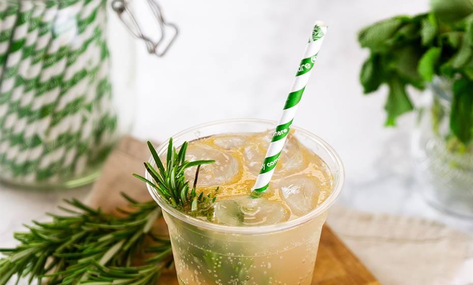 Jumbo green swirl paper straws 8 x 200mm