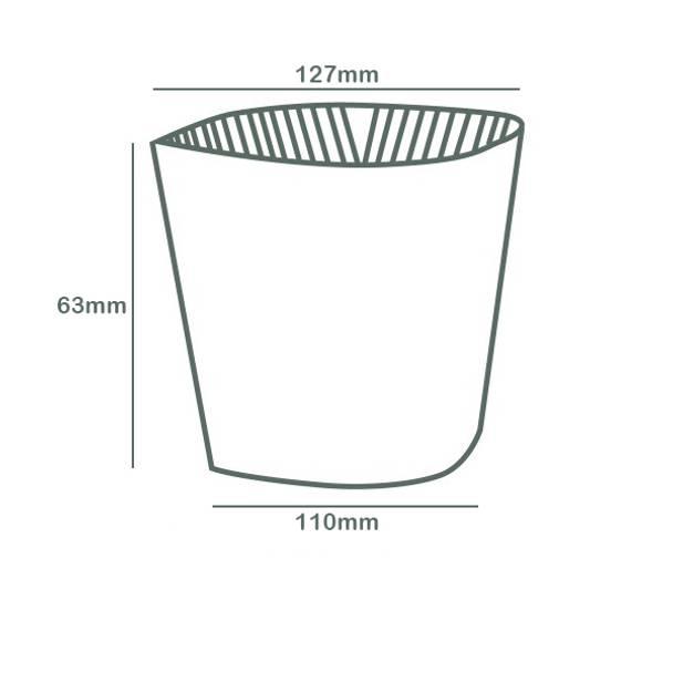 Large coffee cup sleeve - kraft - 89 series