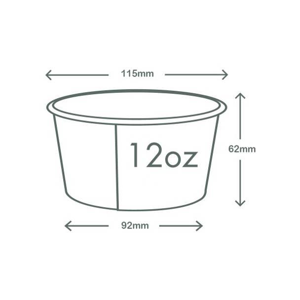 12oz (360ml) Paper Bowl - White - 115 Series