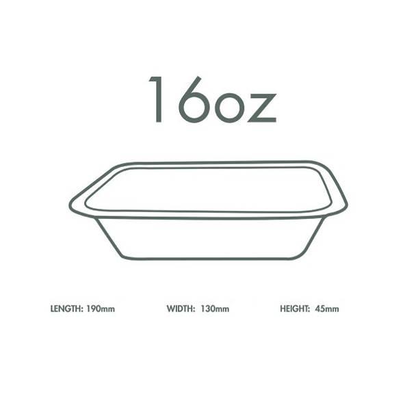 16oz (470ml) White Bagasse Base - V3 Range