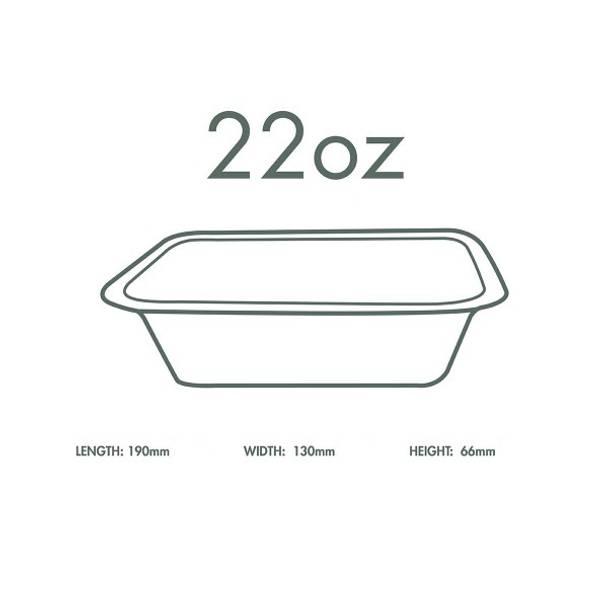 22oz (650ml) White Bagasse Base - V3 Range