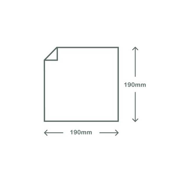 Clear & White PLA Bag - 19cm Square