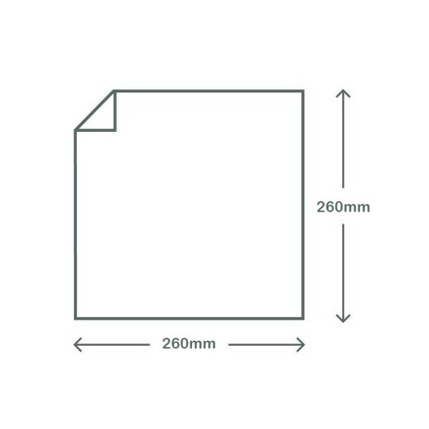 Clear & White PLA Bag - 26cm Square