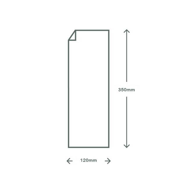 Clear & White PLA Bag - 12 x 35cm