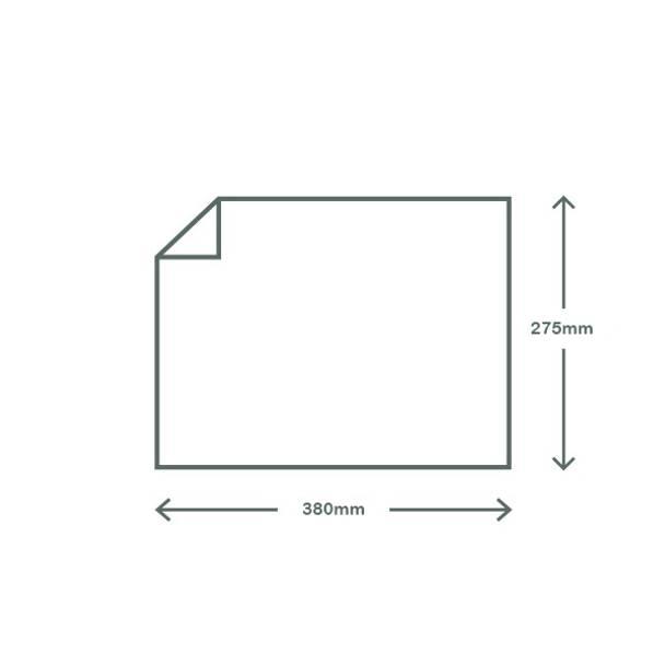 Greaseproof Paper Wrap / Sheet - Kraft Brown - 38 x 27.5cm