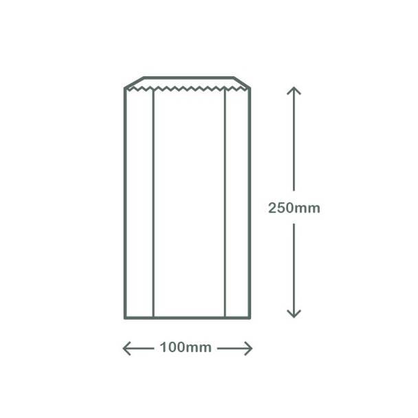 Glassine Hot Bag with NatureFlex Window - 10.1 x 5 x 25.4cm - White