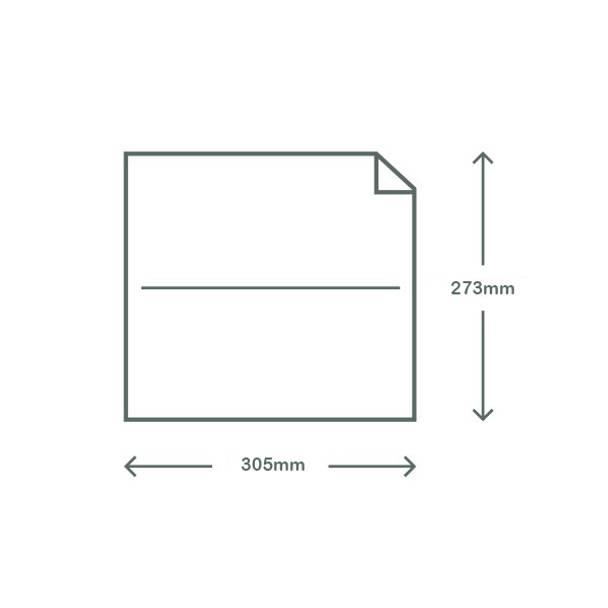 Waxed Deli Paper - Kraft Brown - 30.5 x 27.3cm