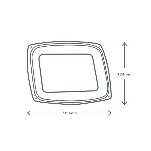 Lid - Rectangular (fits 8,12,16oz) - clear